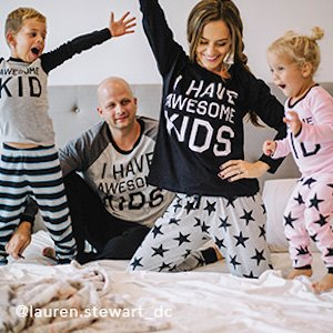 Matching Family Holiday Tees and Pajamas