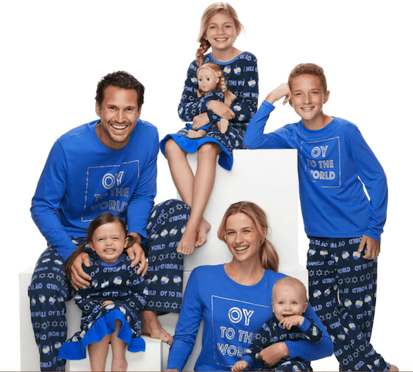 Family Matching Oy to the World Hanukkah Pajamas