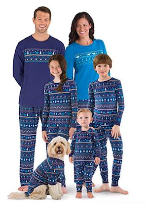 Peace On Earth Fair Isle Matching Family Pajamas