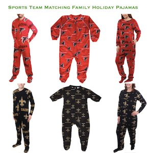 Sports Team Family Holiday Pajamas Instagram mmm