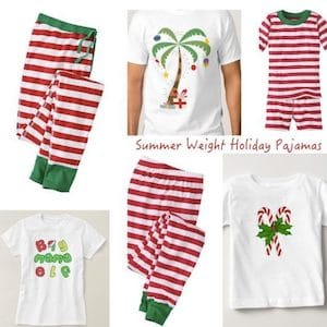 Summer Weight Holiday Pajamas