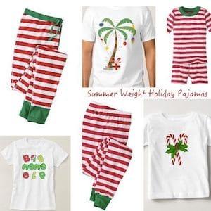 Summer Weight Holiday Pajamas