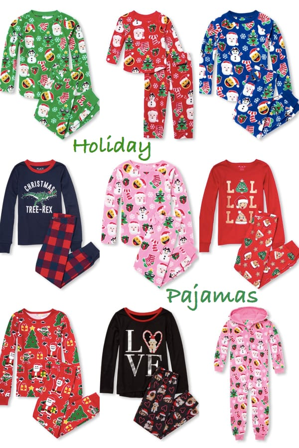 The Childrens Place Holiday Pajamas