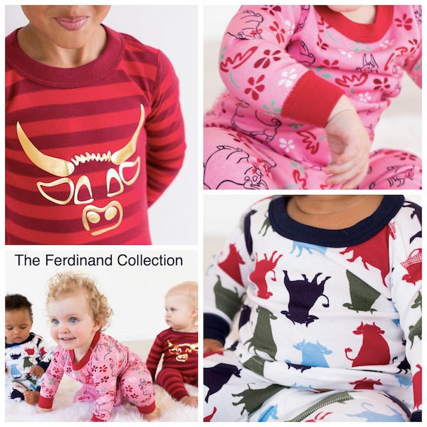 The Ferdinand Pajama Collection on Hanna Andersson