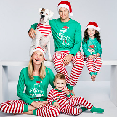 Family Matching Elfing Around Christmas Pajama Sets