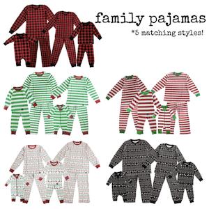 Family Matching Holiday Pajamas 5 Styles Insta
