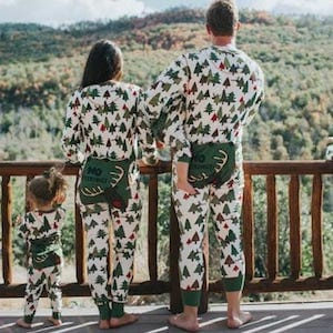Family Matching Flapjack No Peeking Pajamas