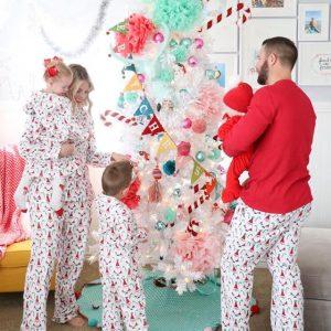 Matching Family Santa Claus Pajamas Holiday Pajamas