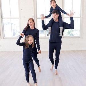Thermal navy family matching pajamas