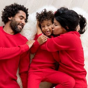 thermal red family matching pjs