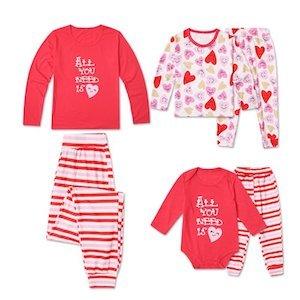 All You Need is Love Mommy and Me Matching Family Valentines Day PJs