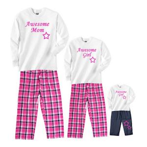 Awesome mom girl valentines day pajamas