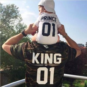 Daddy and me prince king matching outfits