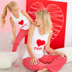 Dots of Love Mother Daughter Valentines Day PJs