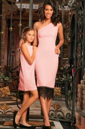 Light Pink Matching Mommy Daughter Dresses