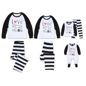 Love to the Moon Matching Family Valentines Day Pajamas