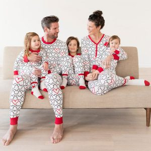 Matching Family Disney Mickey Mouse Valentines Day Pajamas