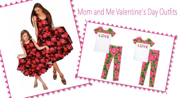 Plus size mommy and me valentines outfits
