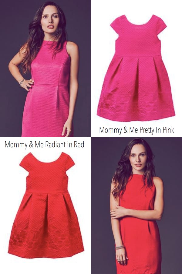 Mommy and Me Pretty in Pink and Red, Plus size mommy and me valentines outfits