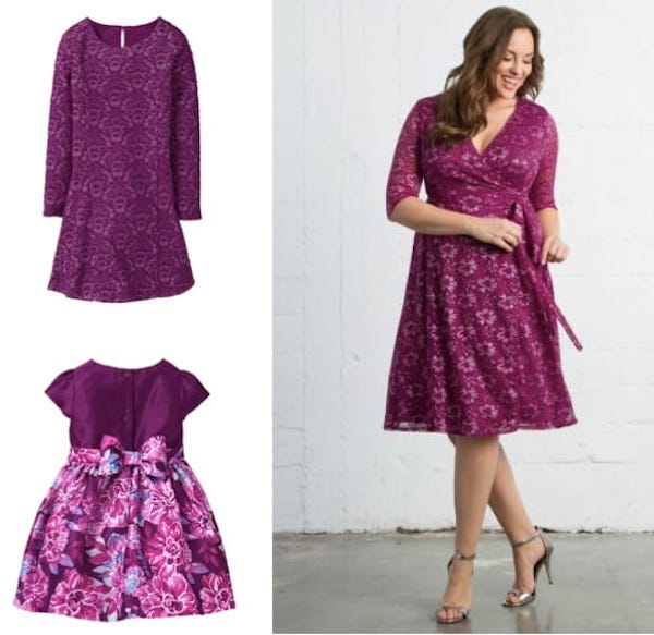 Plus size mommy and me valentines outfits, Mother Daughter Pretty in Shades of Raspberry