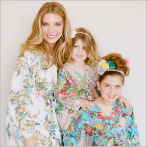 Mother Daughter Matching Kimono Style Robes