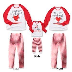 You Melt My Heart Matching Family Pajamas insta
