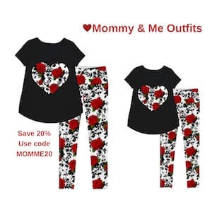 Black roses design valentines day matching activewear