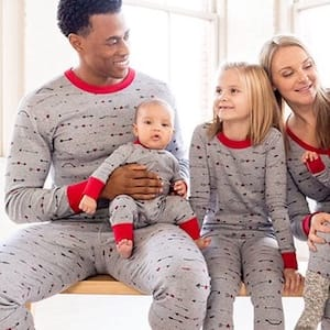 Cupid bow and arrow family matching pajamas