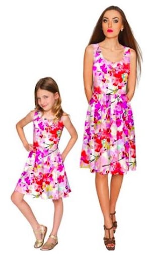 Flower Power Valentines Matching Dresses
