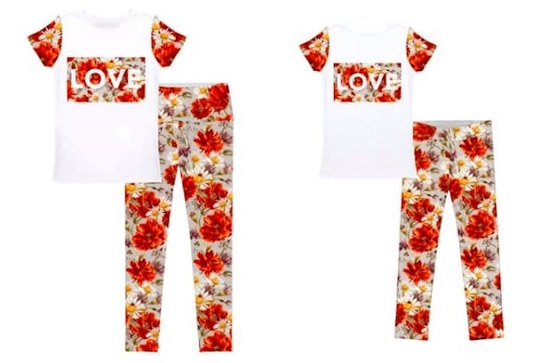 Flowers valentines mom and me outfits