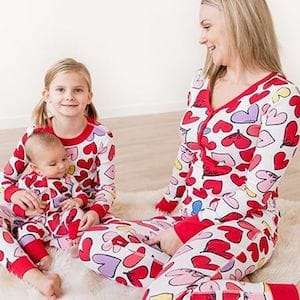 Hearts family matching pajamas