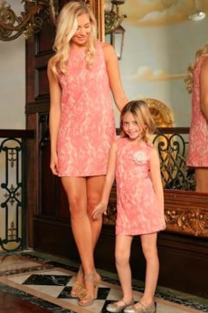 Lace valentines pink dresses short sleeve