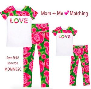 rose matching mom and me valentines outfit