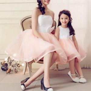Pink tutu dress mom and me matching valentines day outfit