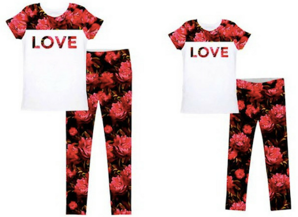 Red roses valentines day mom and me outfits