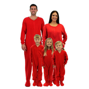 Red valentines family matching pajamas