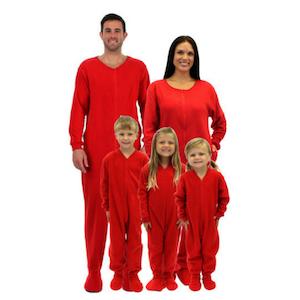 Red valentines family matching pajamas