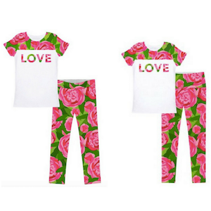 Valentines water color roses matching outfit