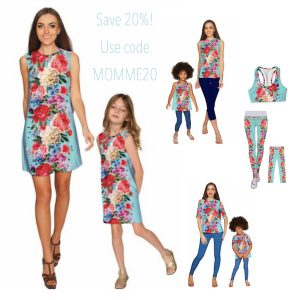 AMOUR ADELE SHIFT FLORAL MOMMY AND ME Outfits