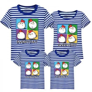 Sweet Chick Stripe Family Matching T-shirts