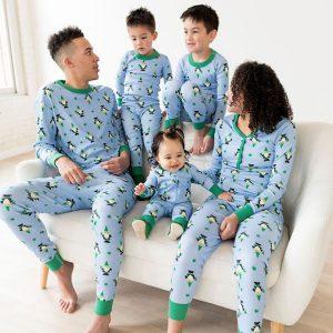 family matching four leaf clover pajamas