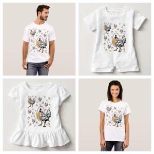 Family Matcing Chicken Shirts