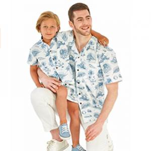 Father Son Matching Hawaiian Luau Outfit
