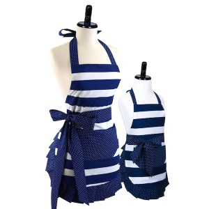 Mother Daughter Nautical Navy Apron Bundle