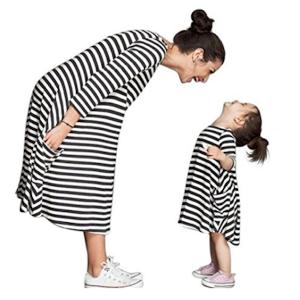 Mother Daughter Striped Shirt Dress