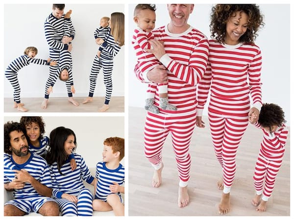 Classic Striped Red, White and Blue Family PJs