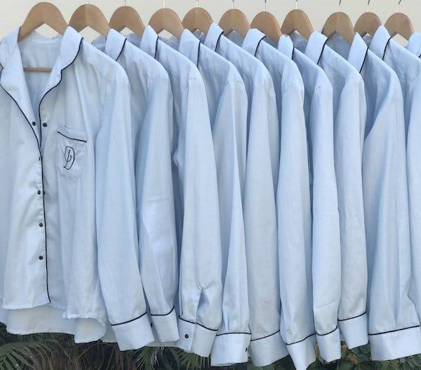 Family Matching Blue Boyfriend Sleep Shirts