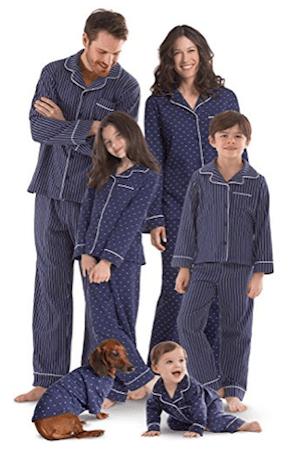 Family Matching Dots andd Stripes Pajamas