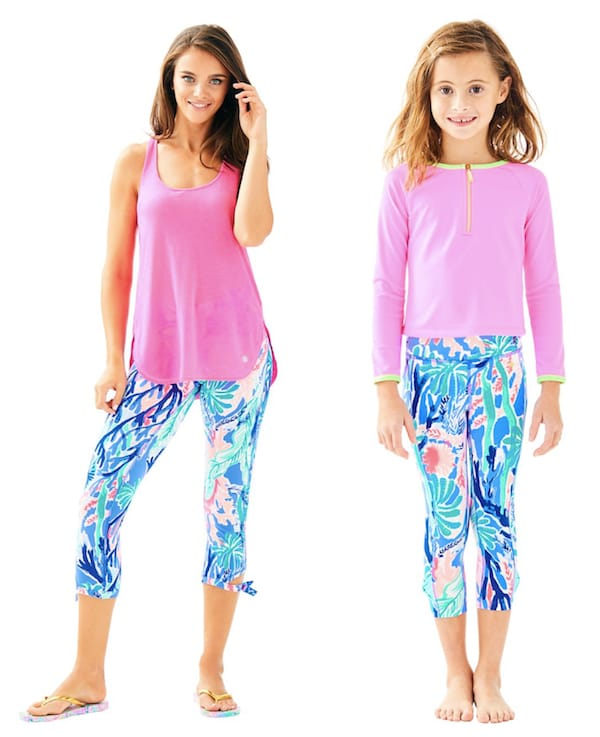 Mommy and Me Lilly Pulitzer Multi Jet Stream Weekender Cropped Legging