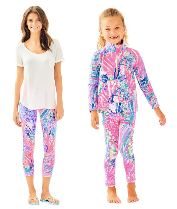 Mommy and Me Lilly Pulitzer Multi Rainbow Soleil Weekender Cropped Legging
